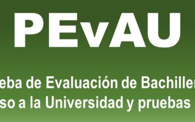 Convocatoria PEvAU Extraordinaria – Curso 2020/2021